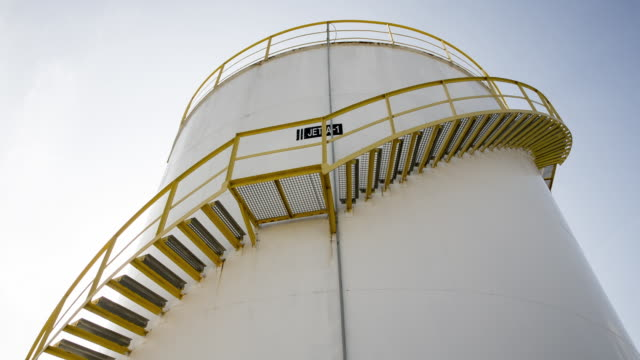ts from left to right of a fuel storage tank - fuel storage tank stock videos and b-roll footage
