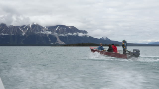 pov from motorboat of open boat lake exploration - motorboat stock videos and b-roll footage