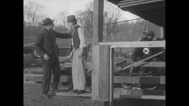[From Paramount Screen Savers date unknown] [actual film title not known] Man talks to owner of an outdoor business wants a job gets it / business...