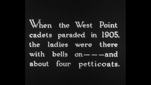 [From Paramount Screen Souvenirs 1932] [with added VO humorous narration throughout not part of original footage] Title card When the West Point...