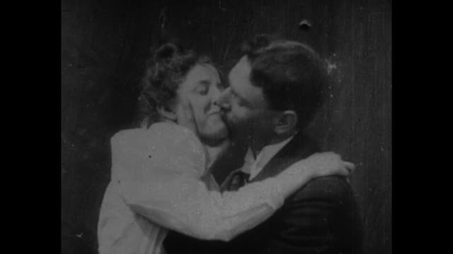 [From Paramount Screen Souvenirs 1933] [VO humorous narration throughout] Title card …This pioneer movie of the gay goofy 90s reveals the fine art of...