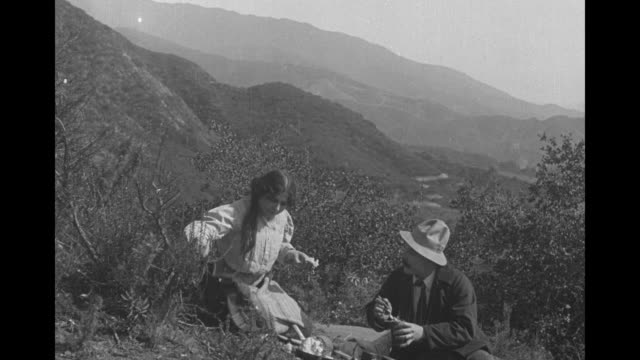 [from paramount screen souvenirs] [actual film title unknown] no title card just clip of early 1900s [note exact year not known] silent film set in... - film set stock videos & royalty-free footage