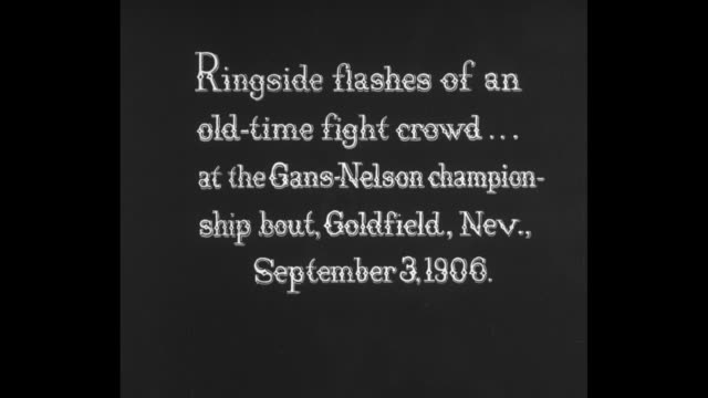 [from paramount screen souvenirs, undated] [vo humorous narration throughout] title card regarding 11/3/1906 championship match between boxers joe... - intricacy stock videos & royalty-free footage