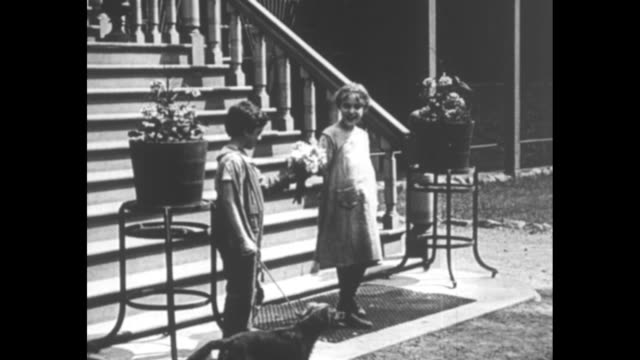 """[from paramount screen souvenirs] [with added vo narration throughout, not part of original movie] title card: """"famous movie youngsters who were... - tennis racket stock videos & royalty-free footage"""