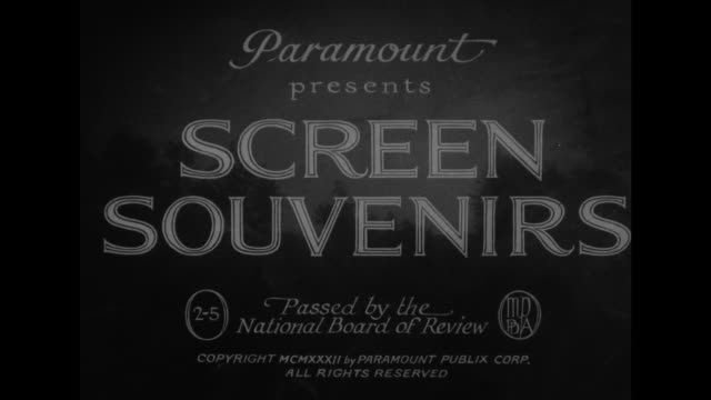 [from paramount screen souvenirs5 1932] [with added vo humorous narration throughout not part of original movie] title a paramount picture with... - evening gown stock videos & royalty-free footage