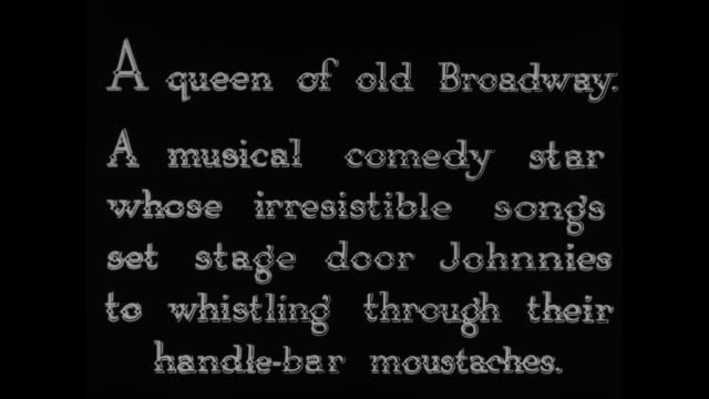 [from paramount screen souvenirs6 1933] [with added vo humorous narration throughout not part of original movie] title a queen of old broadway a... - stage set stock videos and b-roll footage