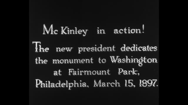 [From Paramount Screen Souvenirs/Movie Memories 1932] [with added VO narration throughout not part of original footage] Title card McKinley in action...