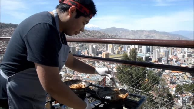 From rooftops looking over La Paz Bolivian chefs prepare the country's not so well known dishes as the Andean country hopes to impose itself on the...