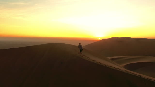 from sand to sky - namibian desert stock videos and b-roll footage