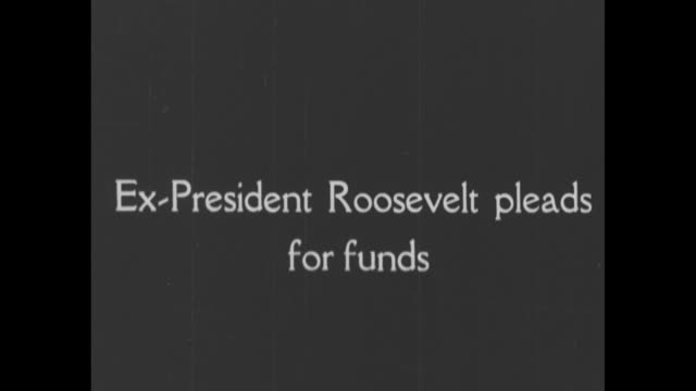 [from scrippshoward documentary about woodrow wilson] title card the president goes to the people for funds to carry on the war and leads our... - theodore roosevelt us president stock videos & royalty-free footage