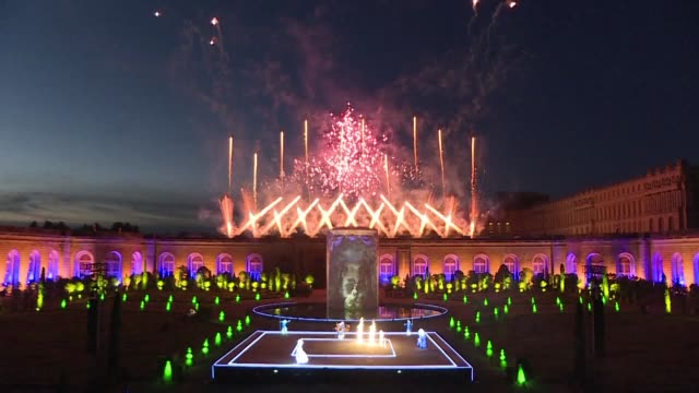 from stars spangling the night sky to flames shooting from the stage even the costumes light up the orangerie garden at versailles in marie... - marie antoinette stock videos and b-roll footage