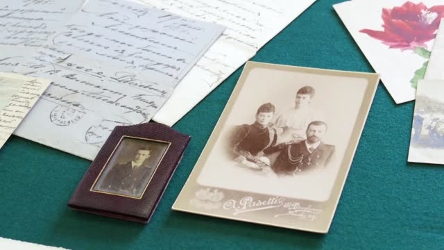 from telegrams about hunting parties to anguished letters over the bolshevik takeover a trove of documents detailing the private lives of russia's... - telegram stock videos & royalty-free footage