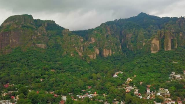 from tepoztlán city to the pyramid - tepoztlan mountains stock videos and b-roll footage