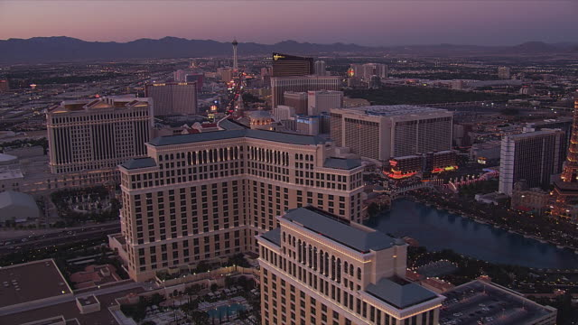 From the Boardwalk to Caesar's Palace in evening light