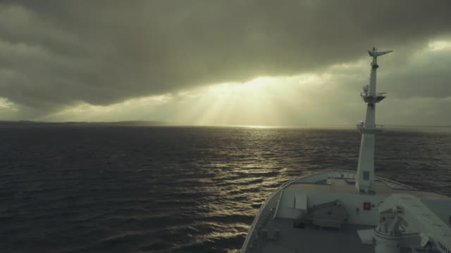 pov from the bridge of a boat sailing ocean - atlantic ocean stock videos & royalty-free footage