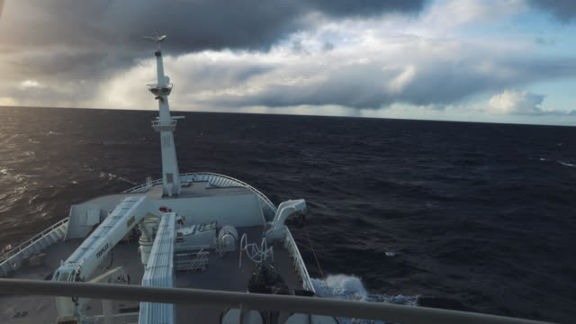 pov from the bridge of a boat sailing ocean - nautical vessel stock videos & royalty-free footage