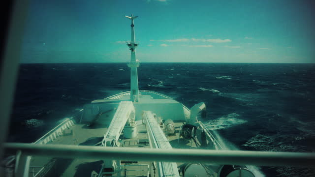 pov from the bridge of a boat sailing ocean - looking through window stock videos & royalty-free footage