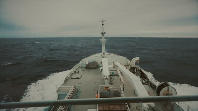 pov from the bridge of a boat sailing ocean - rough stock videos & royalty-free footage