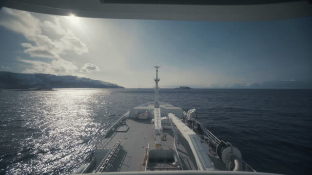 pov from the bridge of a boat sailing ocean - ferry stock videos & royalty-free footage