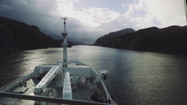 pov from the bridge of a fishing boat in a narrow passage - sea passage stock videos and b-roll footage