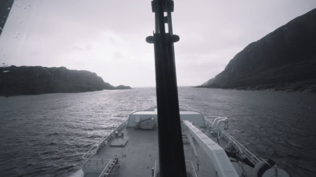 from the bridge of a vessel sailing in a rough sea - trawler stock videos & royalty-free footage