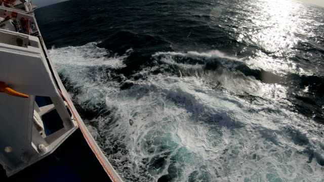 from the bridge of  boat in a stormy sea - ferry stock videos & royalty-free footage