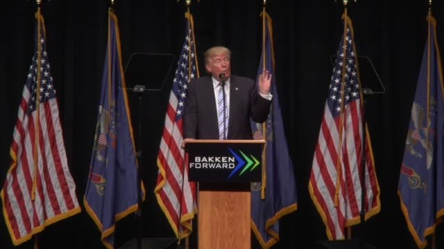 From the energy speech last May in North Dakota
