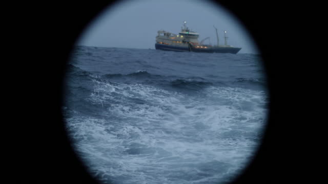 from the porthole window of a vessel in a rough sea - passenger ship stock videos & royalty-free footage