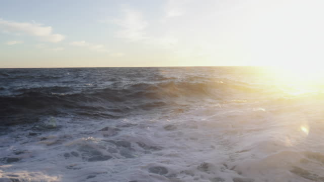 from the porthole window of a vessel in rough sea - north sea stock videos & royalty-free footage