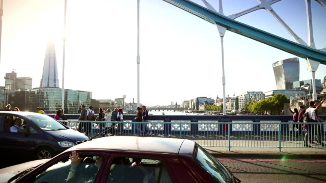 from the tower bridge in london, england - bascule bridge stock videos & royalty-free footage
