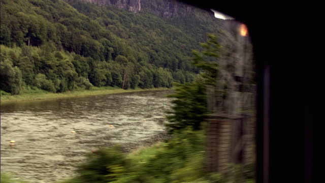 pov from train looking across the elbe - train vehicle stock videos & royalty-free footage