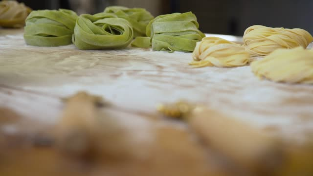 pf from two pasta cutter wheels to pasta - bundle stock videos & royalty-free footage
