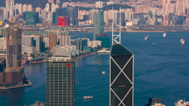 from victoria peak - star ferry stock videos & royalty-free footage