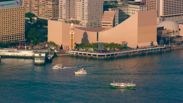 stockvideo's en b-roll-footage met from victoria peak - star ferry