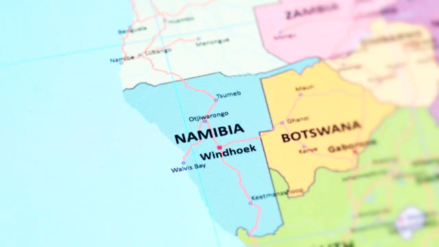 africa namibia from world map - namibia stock videos & royalty-free footage