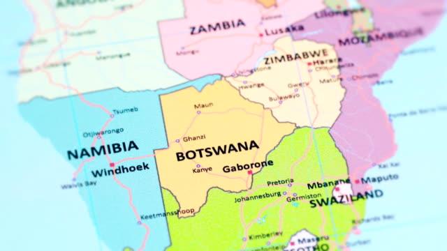vídeos de stock, filmes e b-roll de botswana áfrica do mapa do mundo - áfrica meridional