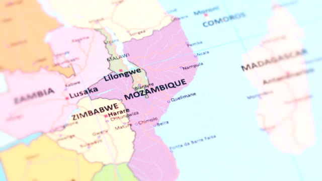 africa mozambique from world map - hiv stock videos & royalty-free footage