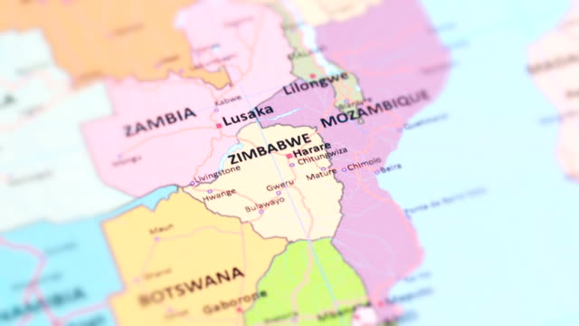 africa zimbabwe from world map - harare stock videos and b-roll footage