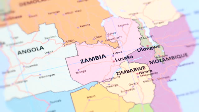 Map Of Africa Zambia.80 Top Zambia Video Clips Footage Getty Images