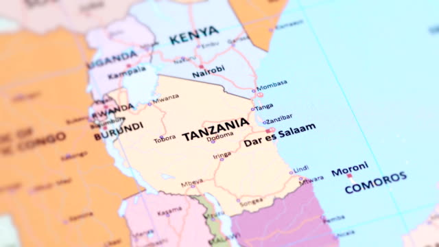 africa tanzania from world map - tanzania stock videos & royalty-free footage