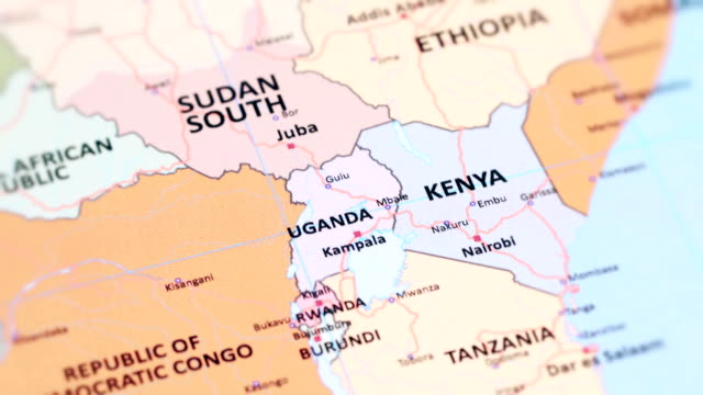 africa uganda from world map - kenya stock videos & royalty-free footage