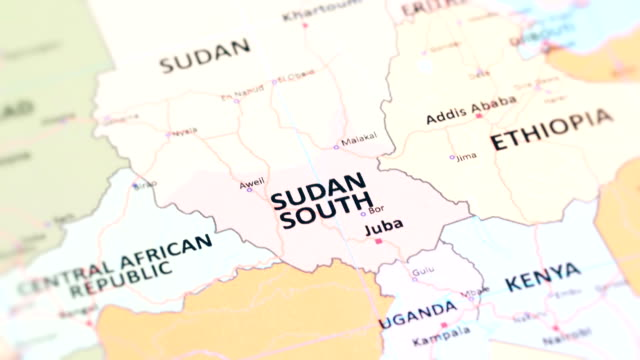 vídeos de stock e filmes b-roll de africa south sudan from world map - etiópia ouro