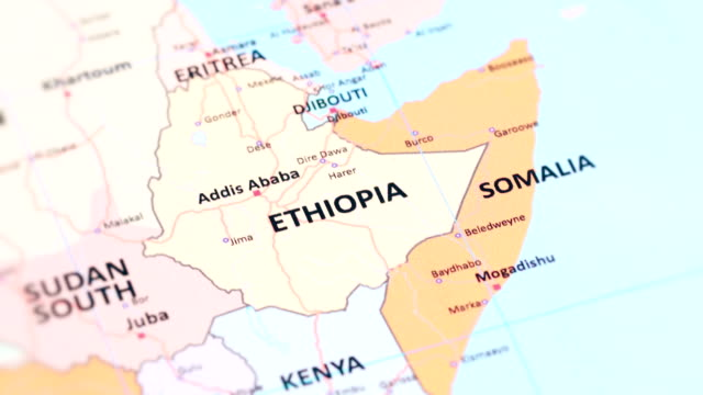 africa ethiopia from world map - gondar stock videos and b-roll footage