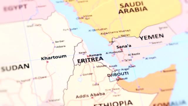 vídeos de stock e filmes b-roll de africa eritrea from world map - etiópia ouro