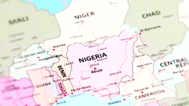 africa nigeria from world map - physical geography stock videos & royalty-free footage