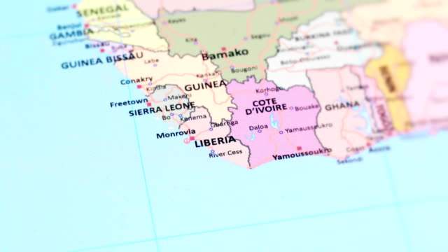 africa liberia from world map - côte d'ivoire stock videos & royalty-free footage
