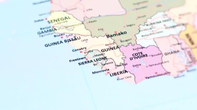 africa sierra leone from world map - sierra leone stock videos & royalty-free footage