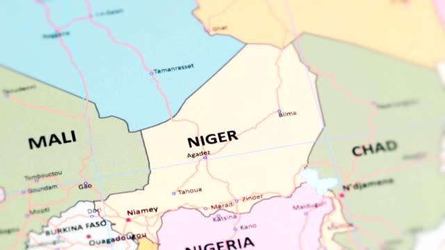 世界地図からアフリカ ニジェール - ニジェール点の映像素材/bロール