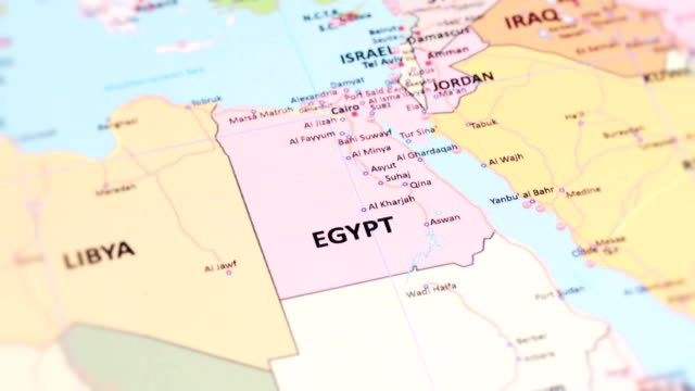 africa egypt from world map - egypt stock videos & royalty-free footage