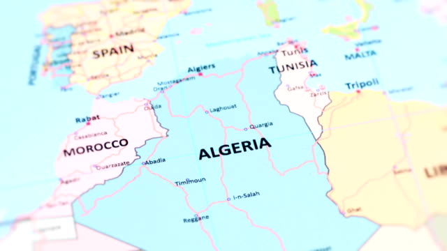 AFRICA ALGERIA from World Map